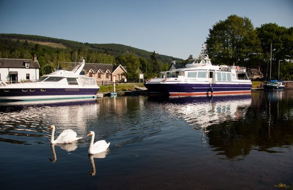 Our home - Dochgarroch Locks on the Caledonian Canal