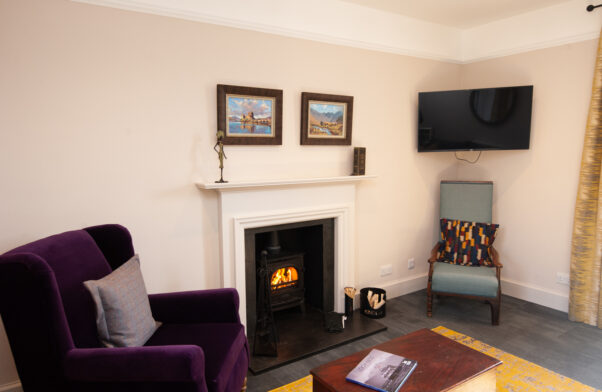The cosy living room at The Cottage