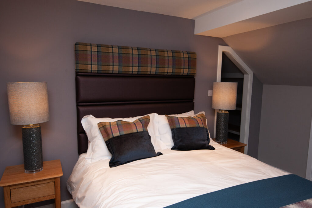 One of the bedrooms at Parkside, Loch Ness Self Catering