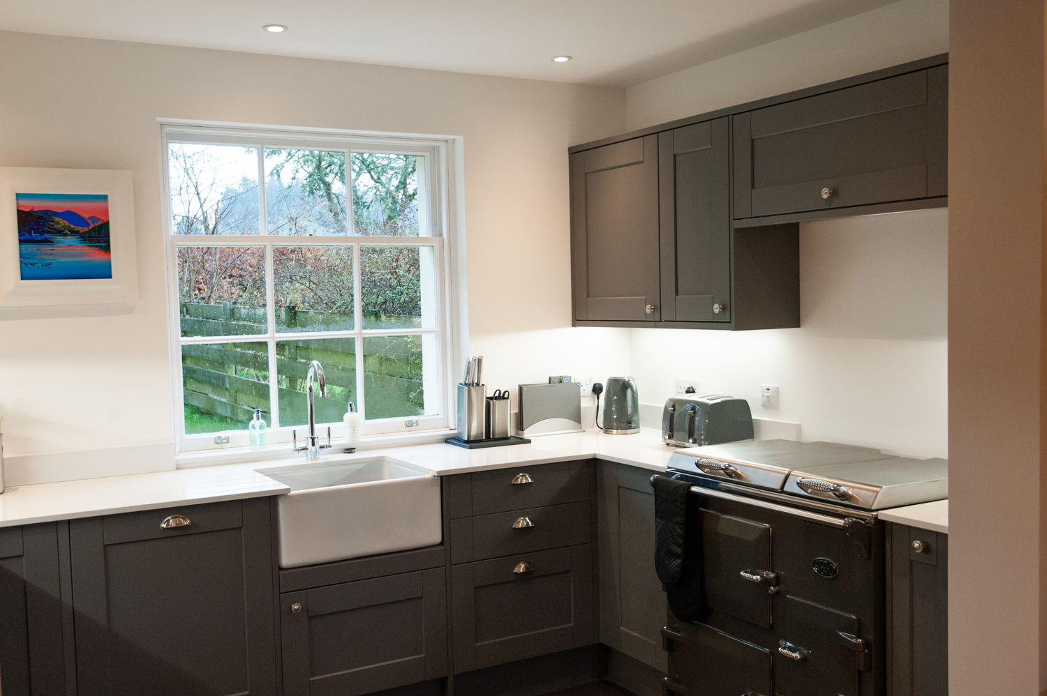 The kitchen at Parkside self catering, Dochgarroch near Inverness